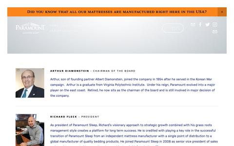 Screenshot of Team Page paramountsleep.com - Our Team — Paramount Sleep - captured Nov. 4, 2018