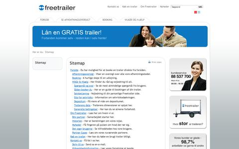 Screenshot of Site Map Page freetrailer.dk - Sitemap - Freetrailer - captured Sept. 22, 2014
