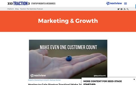 Screenshot of Blog nextviewventures.com - Marketing & Growth Archives - Page 2 of 4 - NextView Ventures - captured April 17, 2017