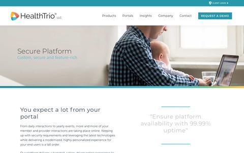 Screenshot of Products Page healthtrio.com - Health Trio     Secure Platform - captured June 20, 2019