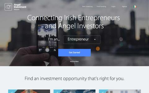 Screenshot of Home Page irishinvestmentnetwork.ie - Irish Investment Network - Business Entrepreneurs & Angel Investors Ireland - captured Jan. 9, 2016