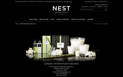 Screenshot of Contact Page nestfragrances.com - NEST Fragrances   Contact Us - captured March 10, 2017