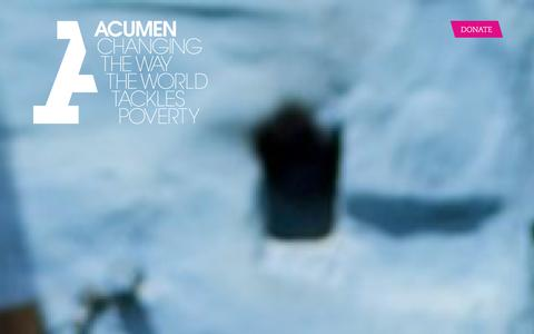 Screenshot of Home Page acumen.org - Acumen is a Bold New Way of Tackling Poverty - captured Jan. 21, 2016