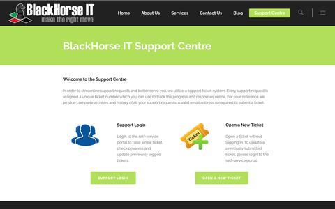 Screenshot of Support Page blackhorseit.com - BlackHorse IT Support Centre - IT Support Dubai - BlackHorse IT - captured Oct. 10, 2017