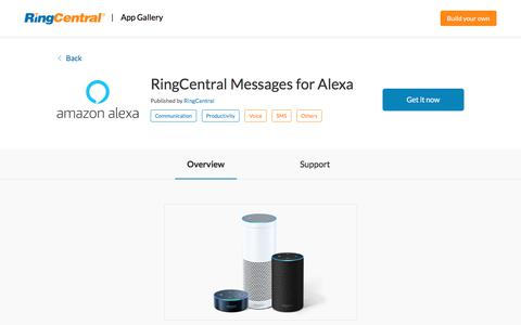 RingCentral Messages for Alexa | RingCentral App Gallery