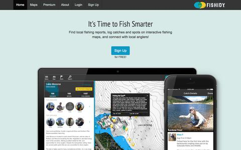 Screenshot of Home Page fishidy.com - Local Fishing Reports, Spots & Fishing Social Network | Fishidy - captured June 5, 2017