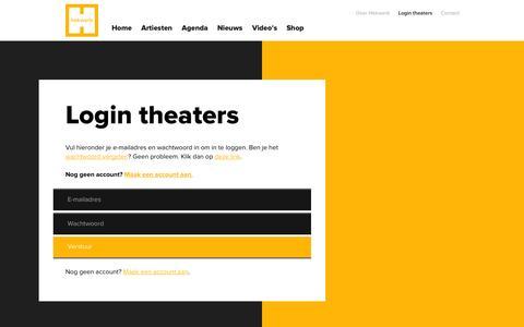 Screenshot of Login Page hekwerk.nl - Login theaters – hekwerk.nl - captured Oct. 2, 2014