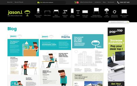 Screenshot of Blog jasonl.com.au - Latest Trends In Ergonomic Offices - Learn How To Create A Healthy Office - captured June 23, 2017