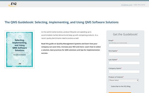 The QMS Guidebook: Selecting, Implementing, and Using QMS Software Solutions