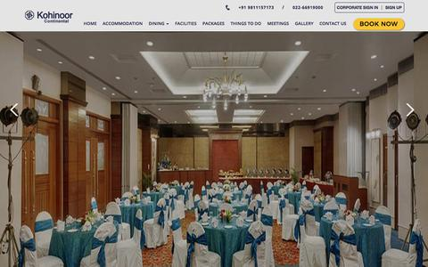 Screenshot of Contact Page hotelkohinoorcontinental.com - Contact Address of Hotel Kohinoor Continental - captured July 22, 2018