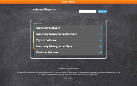 Screenshot of Home Page notes-software.de - notes-software.de - captured Dec. 2, 2018
