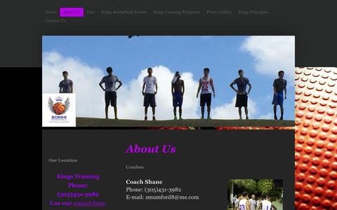 Screenshot of About Page training-kings.com - Kings Training is a basketball program located in Miami Florida - captured Feb. 12, 2016