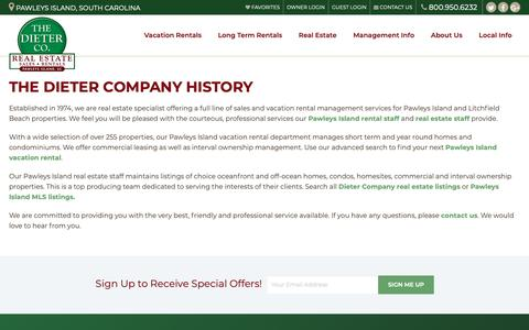 Screenshot of About Page dietercompany.com - About Dieter Company | The Dieter Company - captured Oct. 20, 2018