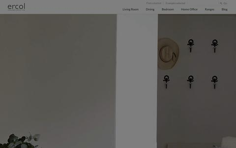 Screenshot of Home Page ercol.com - ercol Quality Handmade Furniture - captured Jan. 23, 2016