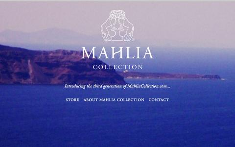 Screenshot of Home Page mahliacollection.com - Mahlia Collection - captured June 16, 2015