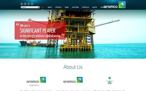 Screenshot of Locations Page aramcoventures.com - Saudi Aramco Energy Ventures LLC - Corporate Venturing Subsidiary of Saudi Aramco, Saudi Arabia - captured Feb. 16, 2016