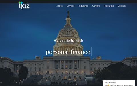 Screenshot of Home Page ijazassociates.com - Ijaz & Associates | Accountants & Consultants - captured Sept. 12, 2018