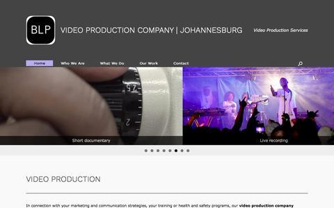 Screenshot of Home Page blpcorporate.com - Video Production | Johannesburg | BLP - captured July 20, 2019