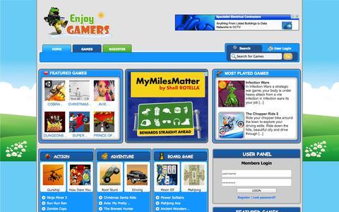 Screenshot of Home Page enjoygamers.com - Enjoygamers.com - captured Sept. 23, 2014