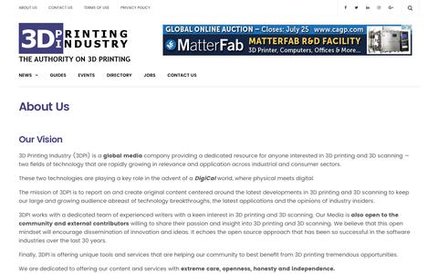 About Us - 3D Printing Industry