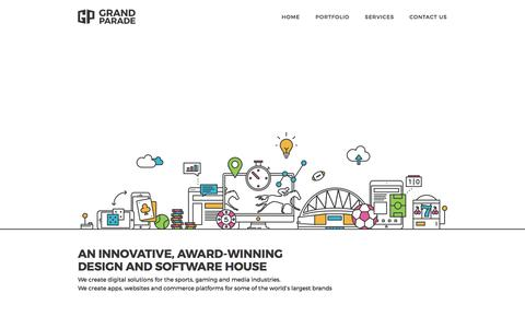 Screenshot of Home Page grandparade.co.uk - Grand Parade | High Tech Digital Marketeers - captured July 17, 2016