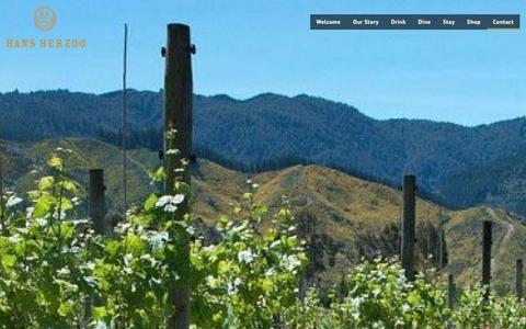 Screenshot of Contact Page herzog.co.nz - Marlborough Wineries - captured Jan. 25, 2016