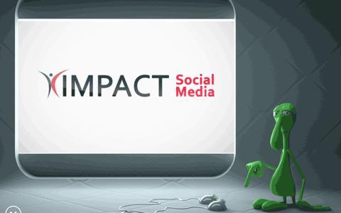 Screenshot of Home Page impactsocialmedia.net - Impact Social Media in Kansas City for Digital Marketing - captured Oct. 1, 2019