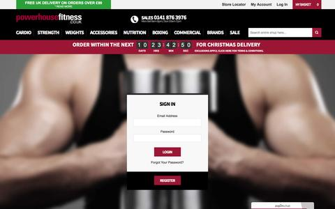 Screenshot of Login Page powerhouse-fitness.co.uk - Customer Login at Powerhouse Fitness - captured Dec. 10, 2015