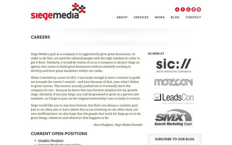 Careers at Siege Media
