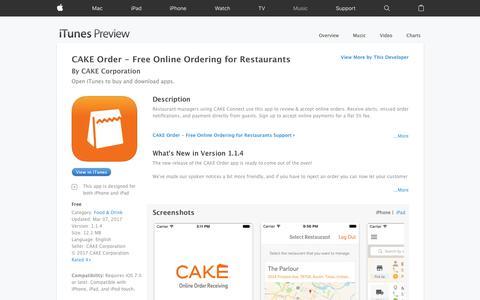 CAKE Order - Free Online Ordering for Restaurants on the App Store