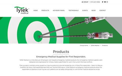 Screenshot of Products Page tytekmedical.com - Emergency Medical Supplies for First Responders | TyTek Medical - captured Dec. 3, 2016
