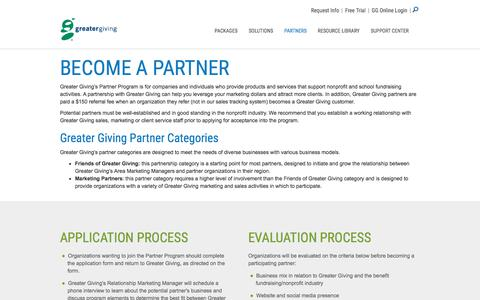 Become a Partner – Partners | Greater Giving - Greater Giving