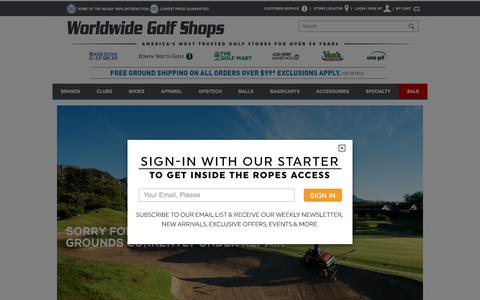 Screenshot of Site Map Page worldwidegolfshops.com - Site Map - captured June 22, 2017