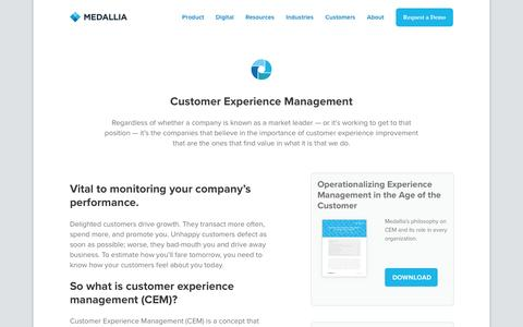 Customer Experience Management - Medallia