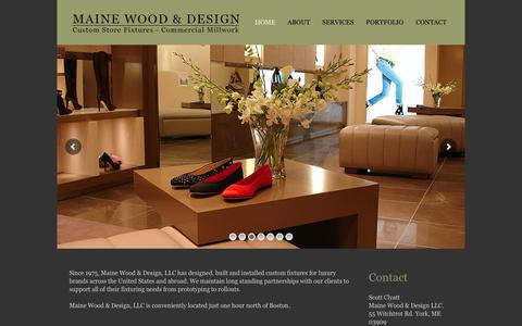 Screenshot of Home Page mwdsgn.com - Maine Wood & Design – High Quality Custom Store Fixtures - captured Oct. 4, 2017