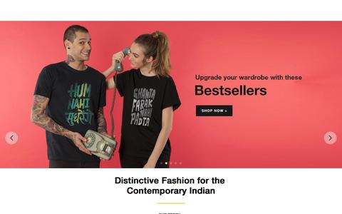 Screenshot of Home Page bewakoof.com - Online Shopping for Men, Women, Kids Fashion & Accessories India - Bewakoof.com - captured May 11, 2018