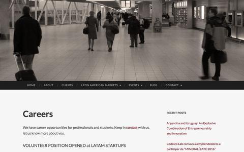 Screenshot of Jobs Page gosouthconsulting.com - Careers | Go South! Consulting Inc. - captured Nov. 10, 2016