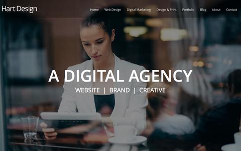 Screenshot of Home Page hartdesign.co.nz - Web Design, Auckland NZ :: SEO :: Online Marketing - captured Jan. 27, 2015