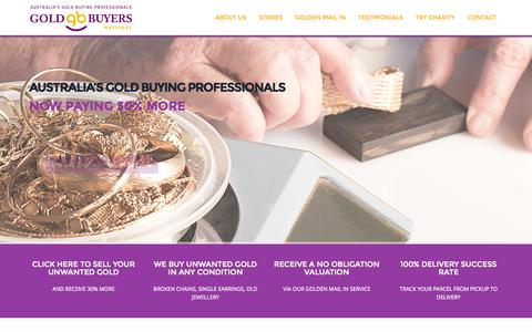 Screenshot of Home Page goldbuyers.com.au - Gold Buyers | Australia's Gold Buying Professionals - captured Sept. 19, 2015