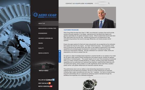 Screenshot of About Page aerogear.com - Aero Gear - About Us - captured Sept. 30, 2014