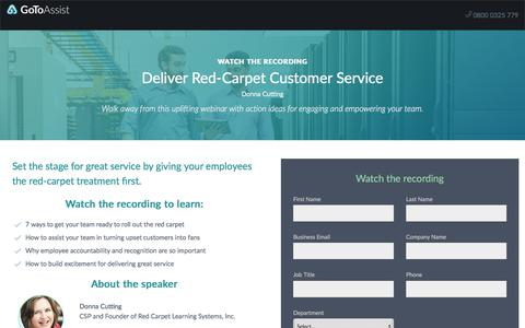 Screenshot of Landing Page citrix.com - Deliver Red-Carpet Customer Service - captured March 31, 2018