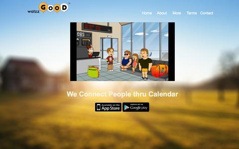 Screenshot of Home Page watzzgood.com - watzzGOOD - We Connect People thru Calendar - captured Oct. 6, 2014