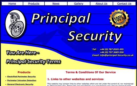 Screenshot of Terms Page principal-security.co.uk - Terms - captured Oct. 3, 2014