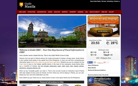 Screenshot of Home Page guide-cebu.com - Cebu Guide | Travel Guide Cebu City | Guide Cebu - captured Sept. 3, 2015