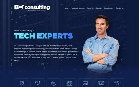 Screenshot of Home Page bctconsulting.com - The Central Valley's #1 Tech Experts   BCT Consulting, Inc. - captured Nov. 9, 2019