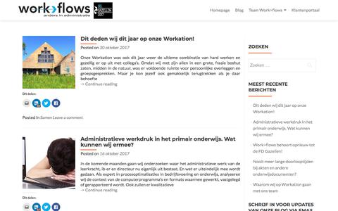 Screenshot of Blog work-flows.nl - Blog – Work>Flows - captured Nov. 12, 2017