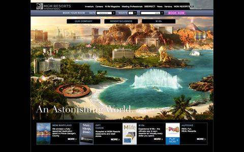 Screenshot of Home Page mgmresorts.com - Welcome to MGM Resorts International - captured Sept. 23, 2014