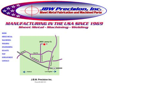 Screenshot of Maps & Directions Page jbwprecision.com - Map - captured Oct. 3, 2014