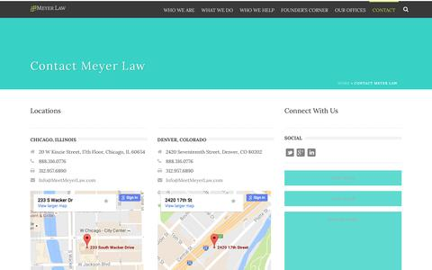 Screenshot of Contact Page meetmeyerlaw.com - Contact - Meyer Law - captured Nov. 28, 2016