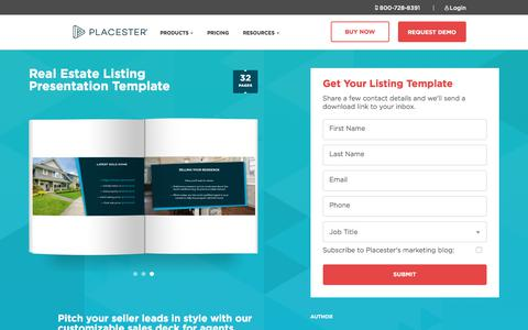 Screenshot of Landing Page placester.com - (2) New Messages! - captured March 31, 2018